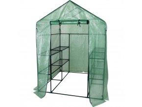 Zahradní skleník na kovovém stojanu, foliový domácí skleník pro semenáčky a mladé rostliny