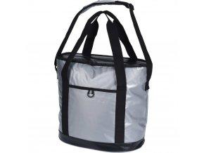 Taška izolující teplo ve stříbrné barvě, praktická taška-lednice pro chlazení potravin a nápojů