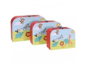 Sada zavazadel pro děti s barevnými mazlíčky, 3 krabice ideální pro ukládání hraček