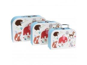 Sada zavazadel pro děti s barevným potiskem, 3 krabice ideální pro ukládání hraček