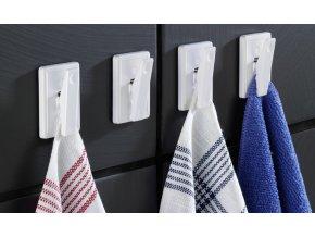 Samolepící háčky koupelnové,kuchyňské - 4 ks, WENKO