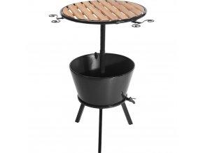 Zahradní stolek s kbelíkem na led, malý bar se stolkem, barový stolek na zahradu, malý stolek s nádobou na led
