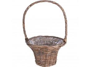 Proutěný koš do domácnosti, proutěný koš na prádlo, proutěný košík jako obal na květináč