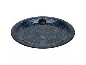 Ozdobný talíř, kulatý dekorační talíř, skleněný talíř do Vašeho bytu, ozdoba do jídelny i obýváku