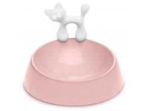 Miska na žrádlo pro kočkou WOW - barva růžová, KOZIOL