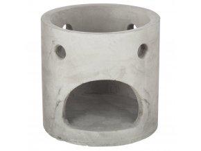 Cementová aromalampa na kadidla, olejíčky a vonné svíčky, módní a praktická ozdoba