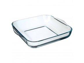 Skleněná žáruvzdorná nádoba na pečení, čtvercová zapékací a servírovací mísa