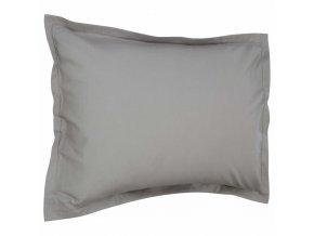 Šedý povlak na polštář čtyřhranný, bavlněné ložní prádlo pro lepší spánkový komfort