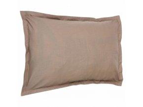Povlak na polštář z přírodní bavlny, stylové ložní prádlo v módním odstínu taupe