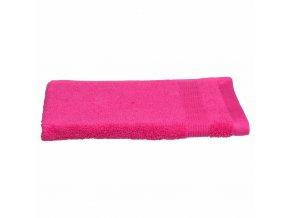 Bavlněný koupelnový ručník na ruce s ozdobnou bordurou, elegantní ručník v intenzivním odstínu