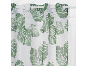 Záclony s rostlinným vzorem o rozměrech 140 x 240 cm vyrobené z polyesteru jsou perfektní ozdobou každé místnosti