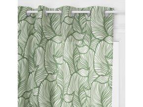 Závěsy s rostlinným vzorem o rozměrech 140 x 260 cm vyrobené z polyesteru jsou perfektní ozdobou každé místnosti