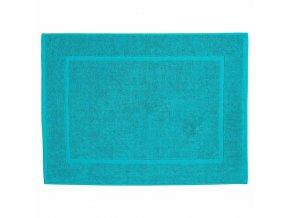 Blankytný bavlněný kobereček do koupelny, stylová a měkká koupelnová předložka z přírodní suroviny