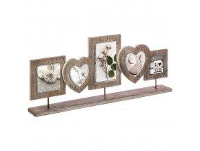 Dřevěný rámeček na pět fotografií, krásný rám na fotografie