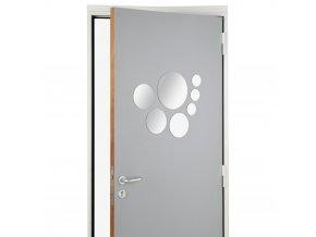 Sada 7 zrcadel různých velikostí vhodná do koupelny ložnice samolepicí snadná montáž