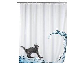 Sprchový závěs, textilní, KOT, 180x200 cm, WENKO