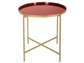 Kulatý stůl, zlatý stůl, elegantní stůl, glamour stůl