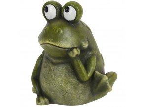 Žába, ozdobná figurka z porcelánu 15x17 cm