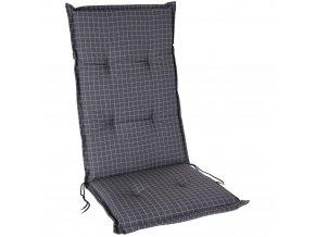 Polstr na lehátko na zavazování, antracitová barva kostkovaná, 120 x 50 cm
