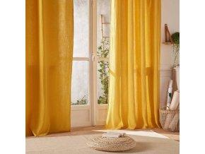 Záclona, žlutá záclona, závěs