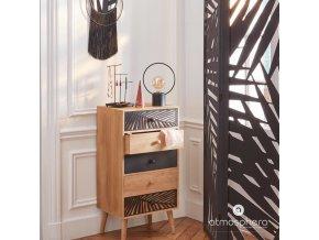 Černá industriální LED lampa z kovu, 26,5x20 cm