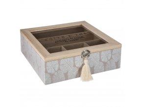 Dekorativní čajová skříńka ze dřeva, 8,5x24 cm