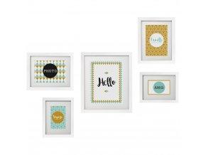 Sada pěti rámy  připravené k dekoraci na zdi