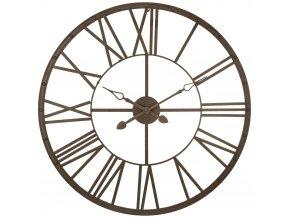 Nástěnné hodiny značky Atmosphera velký stylový kov pro pokoje v průmyslovém stylu