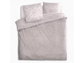 Sada bavlněného ložního prádla pro trojdílný přikrývku Romantická postel a dva polštáře