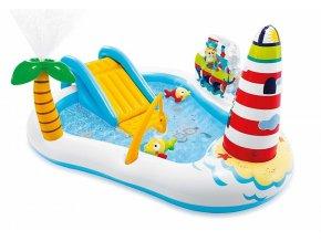Dětský nafukovací bazén je pravé vodní centrum se spoustou atrakcí