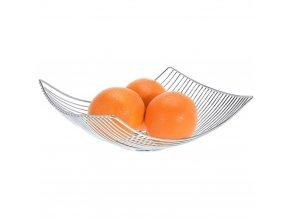 Okrasný koš na ovoce z chormované oceli Praktický doplněk ve vaší kuchyni