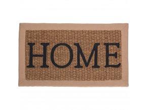 Kokosová rohož pod dveře, hnědá rohožka s nápisem