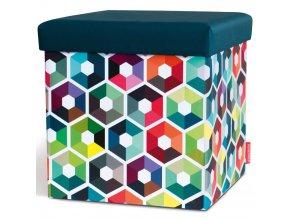 Pouf kostka, designová sedačka v originálních barvách pro dětský pokoj nebo mládež