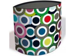 Koš na odpadky, skládací kontejner na odpadky zdobený velkolepým vzorem, ideální pro dětské pokoje