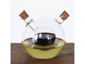 Láhev na ocet a olivový olej ve tvaru originální koule, designový a praktický kuchyňský doplněk