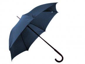 Deštník v modré barvě, 105 cm průměr, 100 % polyester