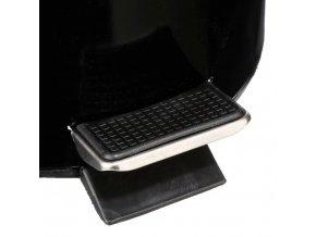 Koupelnový koš, odpadkový koš do koupelny, objem 3 l, výklopné víko, černý