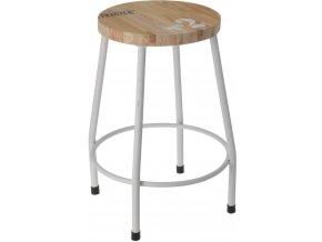 Stolička, sedadlo – čtyřnohá, kovová, bílá barva