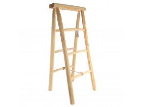 Žebřík na ručníky, držák, věšák z teakového dřeva, výš. 100 cm