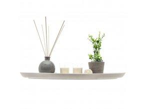 Svícen na svíčky a vonné tyčinky, dřevěná deska s ozdobným akcentem