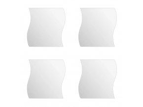 Nalepovací zrcadla k volné kombinací 4 kusů, módní doplněk se zajímavým tvarem