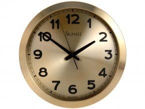 Nástěnné hodiny SEGNALE - kulaté, hliník Ø 40 cm Segnale