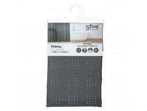 Sprchový závěs s antibakteriálním povrchem, voděodolný, šedá barva