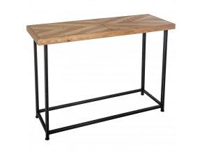 Retro konzole, průmyslový stůl pro chodbu s obdélníkovým MDF topem
