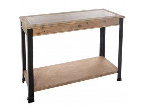Konzola v průmyslovém stylu, pevný stůl pro chodbu s zásuvkou MDF