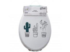 Odolné a hygienické WC sedátko Saguaro, toaletní sedátko se vzorem