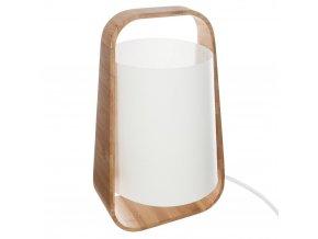 Stojící bambusová lampa, osvětlení s odstínem E14