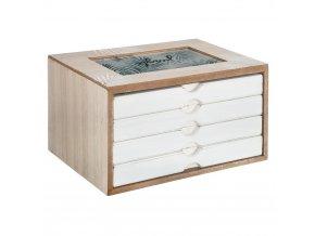 Krabička plná pokladů, dřevěná skříňka – fotoalbum Aloha Jungle
