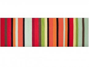 Bavlněný koberec s módním vzorem, kobercová krytina s výjimečnou barevností