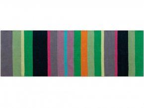 Ručně pletený koberec, bavlněná podlahová krytina s proužky do předsíně